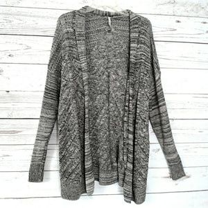 Leo Nicole Grays Sweater Cardigan
